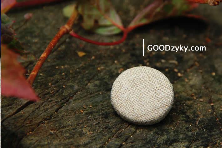 Пуговицы Натуральный серый лен от мастерской GOODzyky.
