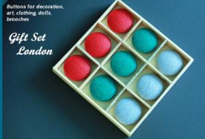 Подарочный набор Лондон, пуговицы цветные