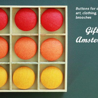 Пуговицы цветные, подарочный набор Амстердам для хендмейда, рукоделия, крафт