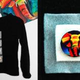 Арт пуговицы с принтами. Дизайн одежды. Goodzyky