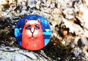 Funny Cat - Павла Кульши, Пуговицы с принтами для одежды, дизайна