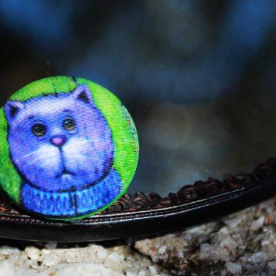 Пуговицы Cat Romantic - арт-пуговицы. Художник: Павел Кульша