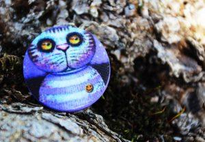 Cat. Sailor - арт пуговицы для одежды, дизайна