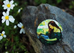woman-buttons-handmade-print-art