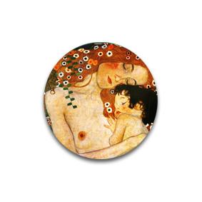 Мать и ребенок - авторская брошь. Картины Климта на пуговицах и брошах