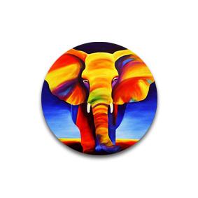 Слон - пуговицы с принтами на ткани.