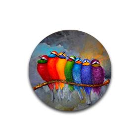 Птицы - пуговицы с картинками. Дизайнерская фурнитура