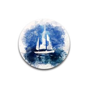Sailing - пуговицы и броши с картинами художников. Дизайнерские украшения от маcтерской GOODzyky