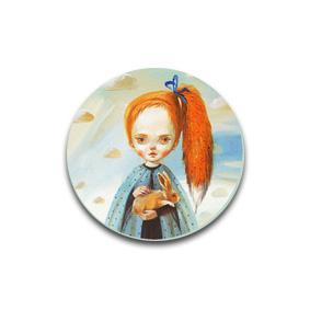 Лиса - пуговицы и броши с картинами художников