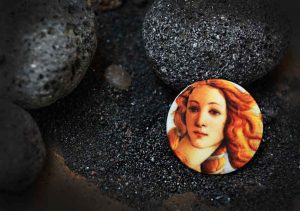 Пуговицы Birth of Venus - Боттичелли - арт пуговицы Goodzyky. Buttons art