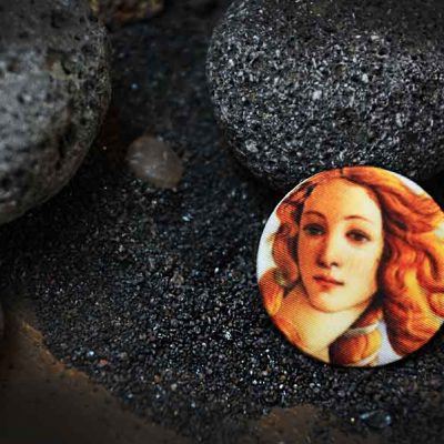 Birth of Venus - Боттичелли - арт пуговицы Goodzyky. Buttons art