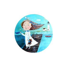 Море - пуговицы с картинами художников