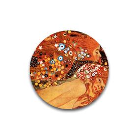 Звезды - броши и пуговицы с картинами Климта. Дизайнерские украшения.