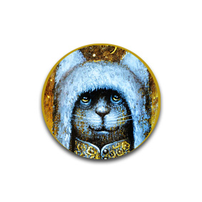 Cat King. Пуговицы и броши с котами от художника Павла Кульши