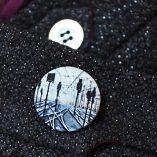 Пуговицы с принтами на ткани для одежды, декора, пальто, пиджака. Магазин пуговиц GOODzyky.