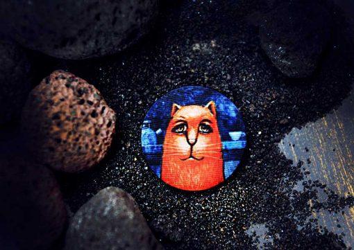 Пуговицы Funny Cat -арт-пуговицы с принтами от магазина GOODzyky