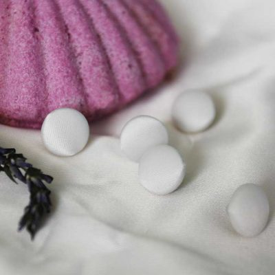 Пуговицы свадебные атласные белые для свадебных платьев, блуз. Большой выбор пуговиц в Киеве.