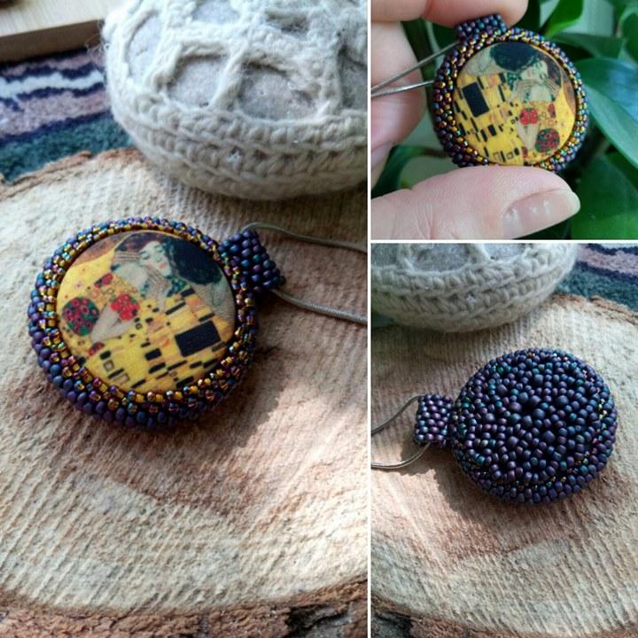 Пуговицы Климт на украшениях