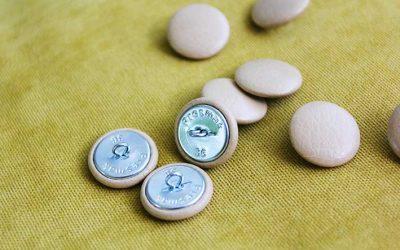 Мебельные пуговицы для каретной стяжки №36 (22 мм). Обтяжка пуговиц тканью, кожзамом.