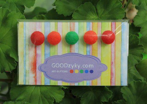 Пуговицы из фетра и ткани, наборы пуговиц можно купить в магазине пуговиц GOODzyky