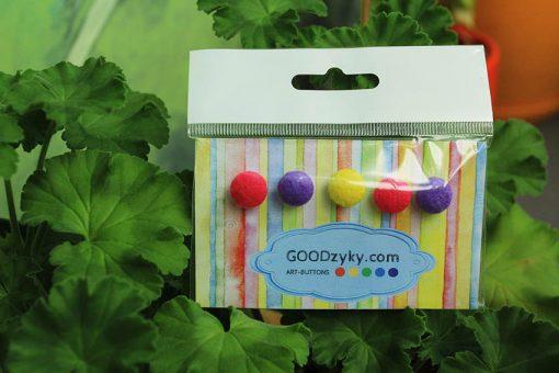 Пуговицы цветные. Набор тканевых пуговиц №6. Большой выбор пуговиц от производителя GOODzyky