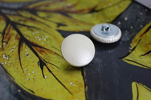 Пуговицы белый перламутр. Мебельные пуговицы для каретной стяжки, 22 мм