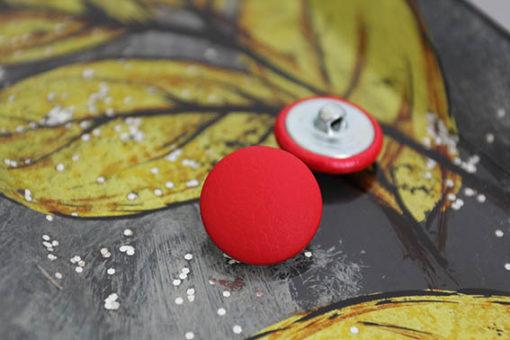 Пуговицы для мебели красные, цельная ножка, металл. 22 мм
