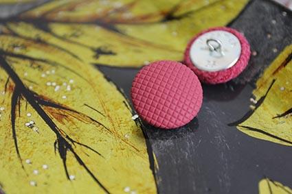 Пуговицы розовые с узором. Пуговицы для каретной стяжки, одежды. 22 мм. Металлическая ножка.