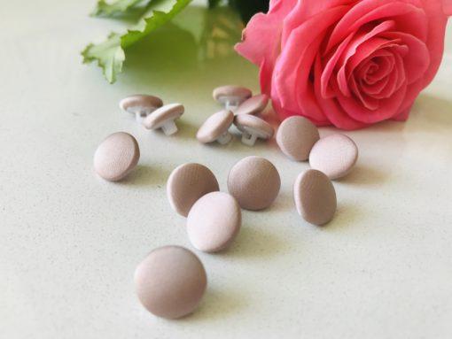Пуговицы атласные нежно-розовые для платьев