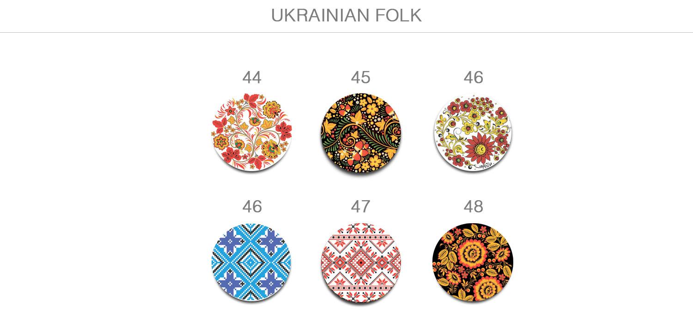Броши в украинском стиле. Украинский орнамент на украшениях.